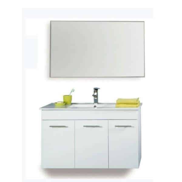תמונה ראשית ארון אמבטיה + כיור ומראה מרחפת 100 ס_מ