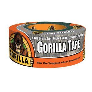 תמונה ראשית חדש ! סרט הדבקה חבלה כסוף גורילה סופר חזק Gorilla Tape 48mmX11m