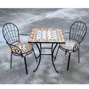 תמונה ראשית כיסא פסיפס עם ידיות