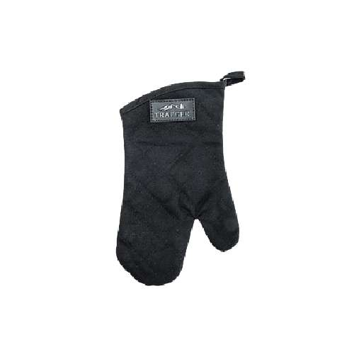 תמונה ראשית כפפה חסינת חום בצבע שחור - קנבס בשילוב עור