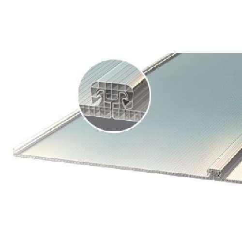 תמונה ראשית סנפל דגם - מערכת קירוי אדריכלית מפוליקרבונט דופן - כפול