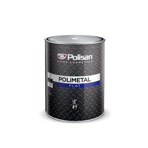 תמונה ראשית צבע יסוד + עליון למתכת לבן חלק - POLISAN פוליסן - 4.5 ליטר