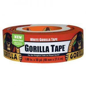 תמונה ראשית סרט הדבקה  חבלה לבן גורילה סופר חזק Gorilla Tape 48mmX27.4m