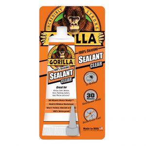"""תמונה ראשית גורילה סיליקון שקוף לאיטום בשפופרת 83 מ""""ל Gorilla Glue 100% SILICONE"""