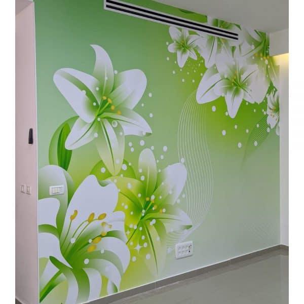 פרחים ירוק- סלון