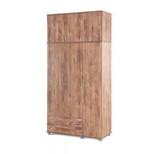 תמונה ראשית ארון 3 דלתות 2 מגירות + ארון עליון 3 דלתות – yiron יראון – דגם 607-607E