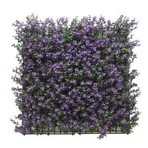 קיר צמחיה מלאכותי - HOLLY הולי - בוקסוס סגול