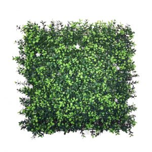קיר צמחיה מלאכותי - HOLLY הולי - תאשור אנגלי + פרח לבן